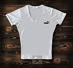 Женская футболка Puma белого цвета топ-реплика