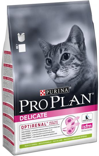 Pro Plan Delicate Lamb - корм Пурина Про План с ягненком и рисом для кошек с чувствительной кожей 10 кг