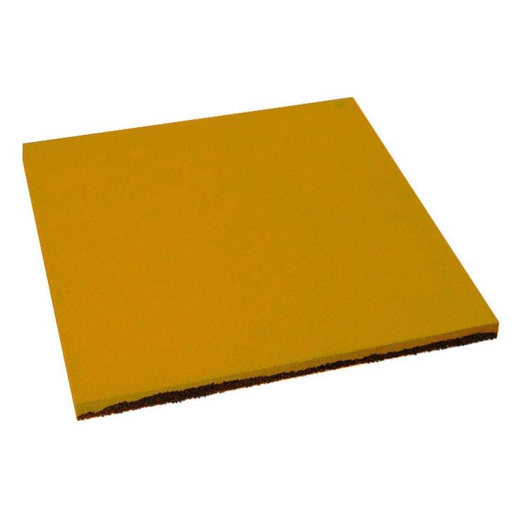 Резиновая плитка Желтого цвета 20мм