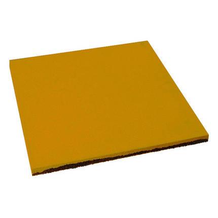 Резиновая плитка Желтого цвета 20мм, фото 2