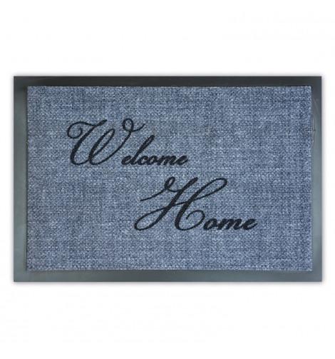 Придверный коврик Лущув Welcome Home 40x60 см серый прямоугольный (W03)