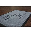 Придверный коврик Лущув Welcome Home 40x60 см серый прямоугольный (W03), фото 2