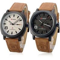 Мужские кварцевые наручные часы Curren GMT Chronometer Black and White, фото 1