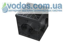 Пластиковый дождеприемник (корпус без решетки) PolyMax Basic 300x300 арт. 8370-Ч