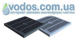 Решетка пластиковая PolyMax Basic 280 * 280 черная для дождеприемников