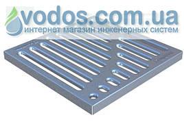 Решетка стальная штампованная Basic (оцинкованная) к дождеприемнику 300x300