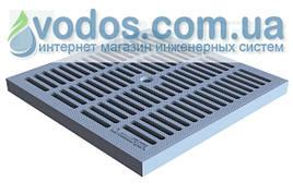 Решетка водоприемная PolyMax Basic РВ-28.28-ПП пластиковая ячеистая серая  3380-С
