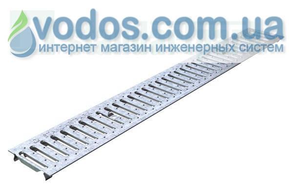 Решетка водоприемная Basic РВ-10.14.100 штампованная стальная оцинкованная 2010, фото 2