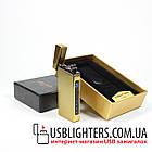 Электроимпульсная USB зажигалка Elegant gold 064_4, фото 3
