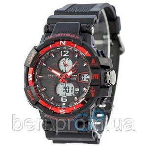 Часы наручные Casio G-Shock 1100SH Black-Red (Черно-Красный)