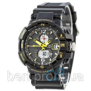 Часы наручные Casio G-Shock 1100SH Black-Yellow (Черно-Желтый)