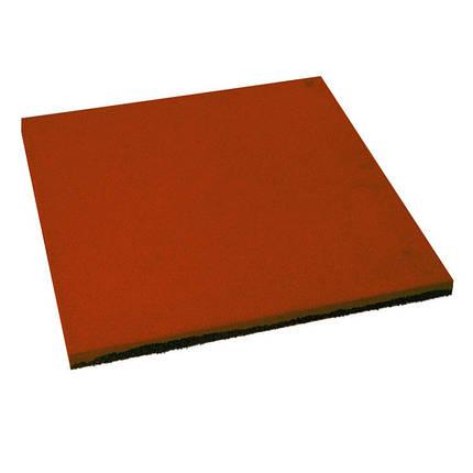 Резиновая плитка Тарракотового цвета 15мм, фото 2