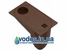 Бокс водосточный PolyMax Basic ГП-30.16-ПП пластиковый с вертикальным водоотводом коричневый 817009-К UA