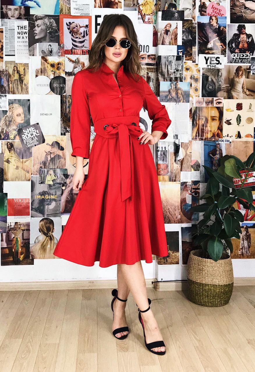 Платье красное, арт.1022