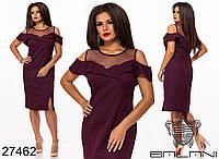 Нарядное платье вставка сетка р-р. 48-50, 52-54, 56-58