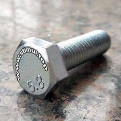Болт 5 х 10 мм (в упаковке 500 штук) с Полной Резьбой Оцинкованный / Класс прочности 5.8 / DIN 933