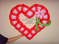 Оригинальное сердца из шаров