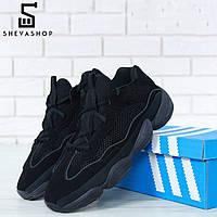 Мужские кроссовки в стиле Ad*das Yeezy Boost 500 черные, фото 1