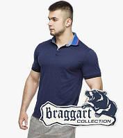 Мужская футболка поло 6285 т.синий-электрик, фото 1