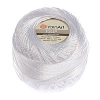 Турецкая летняя пряжа для вязания YarnArt Tulip (тулип) 55 белый