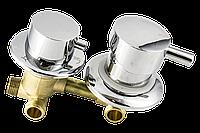 Змішувач душової кабіни (G-3 \ 8) з роздільними вузлами на три положення під гайку. (Оригінал)