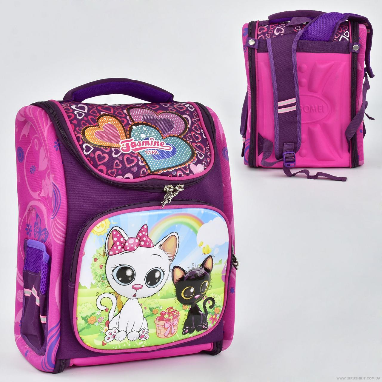 Каркасный рюкзак для девочки Котята