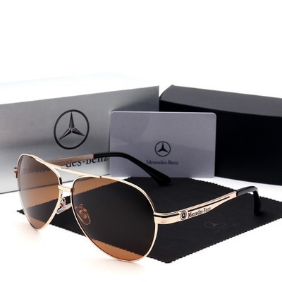 Мужские солнцезащитные очки с логотипом Mercedes-Benz