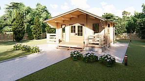 Дом дачный из профилированного бруса 6х6 м. Кредитование строительства деревянных домов
