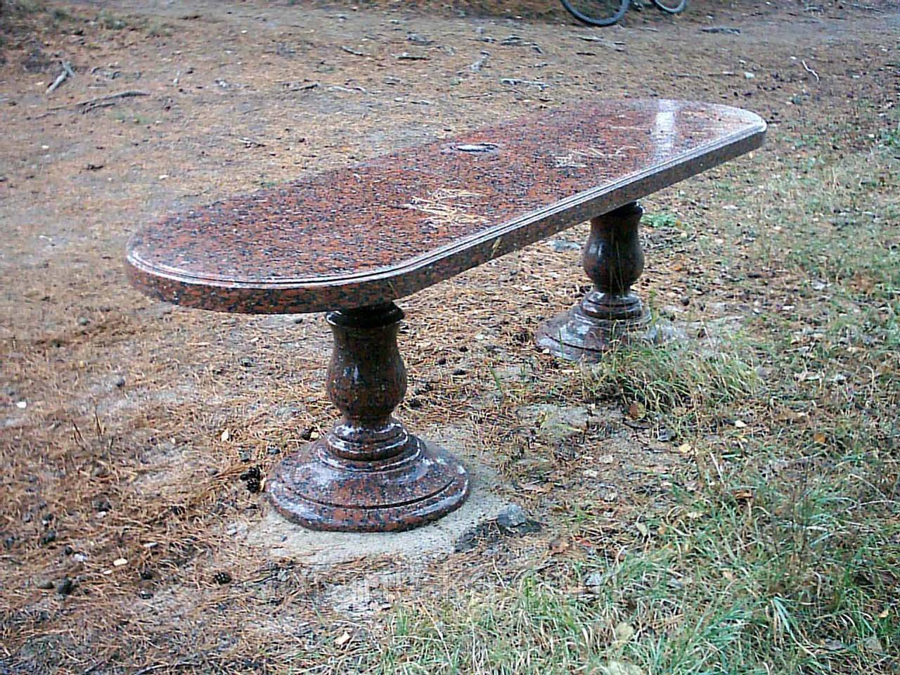 Гранитные столы и лавки от производителя