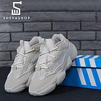 Кроссовки в стиле Ad*das Yeezy Boost 500 белые , фото 1