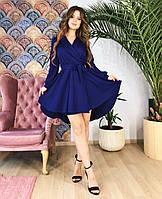 Короткое платье-халат темно-синее, арт.1036, фото 1