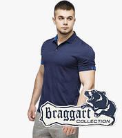Мужская футболка поло 6332 т.синий-голубой, фото 1