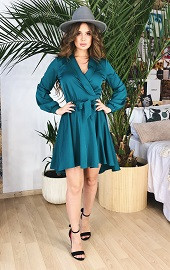 Платье-халат бирюзовое Viravi Wear, модель 1036