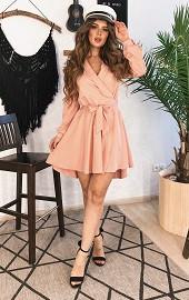 Платье-халат розовое Viravi Wear, модель 1036