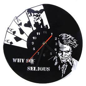 """Настенные часы Джокер Joker """"Why so serious"""""""