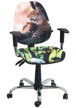 Кресло Бридж Хром Дизайн 7- Леопард, фото 2