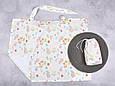 Накидка для кормления с сумочкой чехлом, Зайки и цветы, фото 2