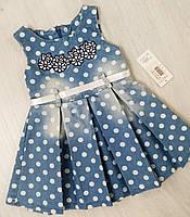 Детское джинсовое платье для девочки Cincir размер  на 1, 2 года Турция