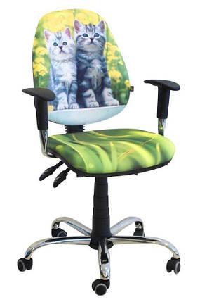 Кресло Бридж Хром Дизайн №8 Котята, фото 2