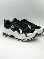 Черные с белым спортивные кроссовки, фото 1