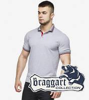 Мужская футболка поло 6584 серый, фото 1