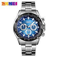 Мужские часы Skmei 1366 Chronograph  Blue (quartz) 3Bar, фото 1