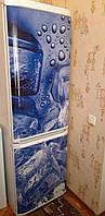 Виниловая 3D наклейка магнитная на весь холодильник, магнит 180 х 60 см, Лицевая