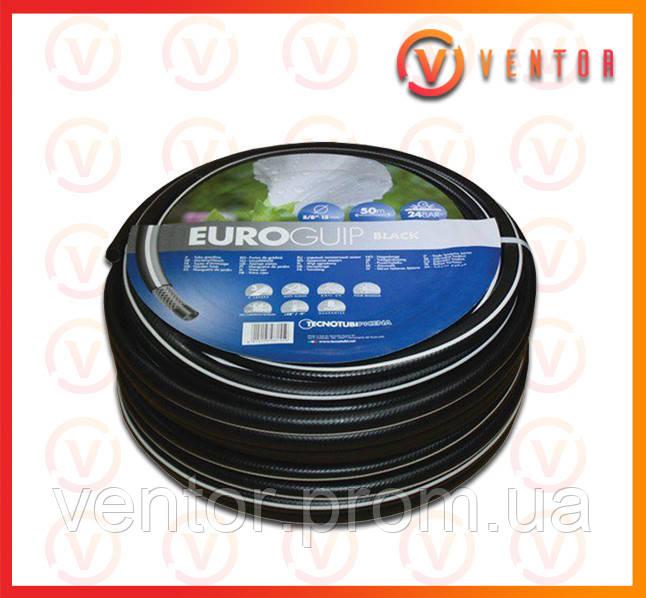 """Шланг поливочный Euro Guip Black 1"""", длина 25м, 50м"""