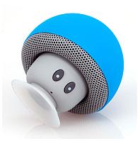 Портативная Bluetooth блютус колонка BT-280 грибок, голубой.