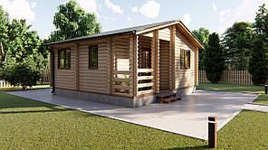 Домик садовый из профилированного бруса 6х6 м. Кредитование строительства деревянных домов