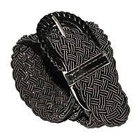 Ремень женский плетенка на шпеньке  (черный) 40 мм -купить оптом в Одессе