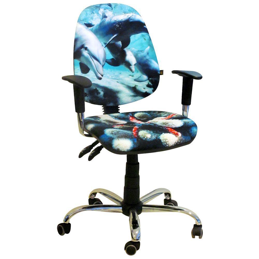 Кресло Бридж Хром Дизайн №5 Дельфины