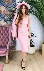 Сарафан розовый в белый горошек Viravi Wear, модель 1037