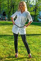 Женская рубашка(42-60) 8019  +пояс в подарок